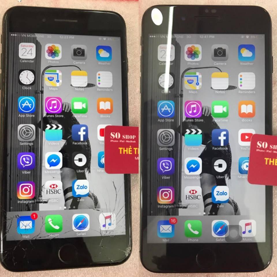 thay màn hình iphone 7 plus chính hãng tại SOshop