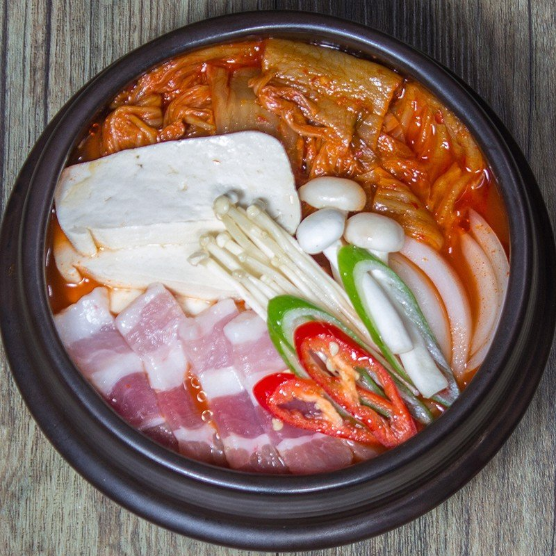 Canh kim chi - Kimchi soup (rice included)