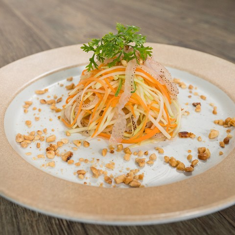 Salad sứa đu đủ -  Green papaya salad with jerryfish