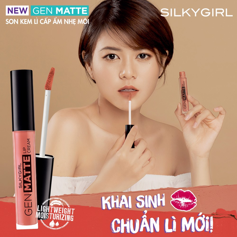 Silkygirl Son kem lì Gen Matte 01 Just Nude 3,8ml