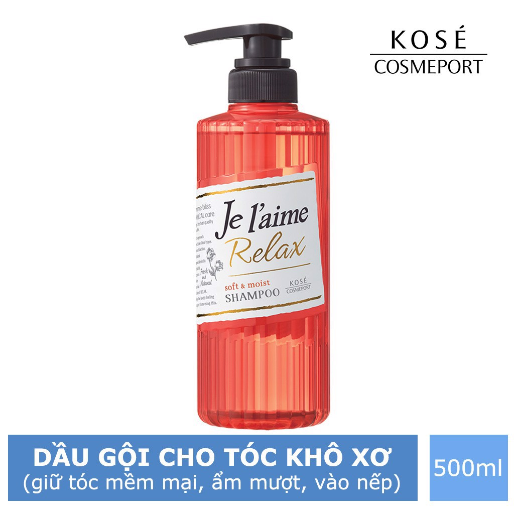 Kose Dầu Gội Cosmeport Je L'aime Relax Treatment Soft and Moist WTEA 500ml