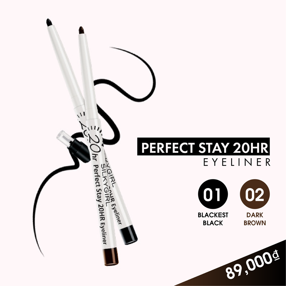Silkygirl Chì viền mắt Perfect Stay 02 Dark Brown 0,28g