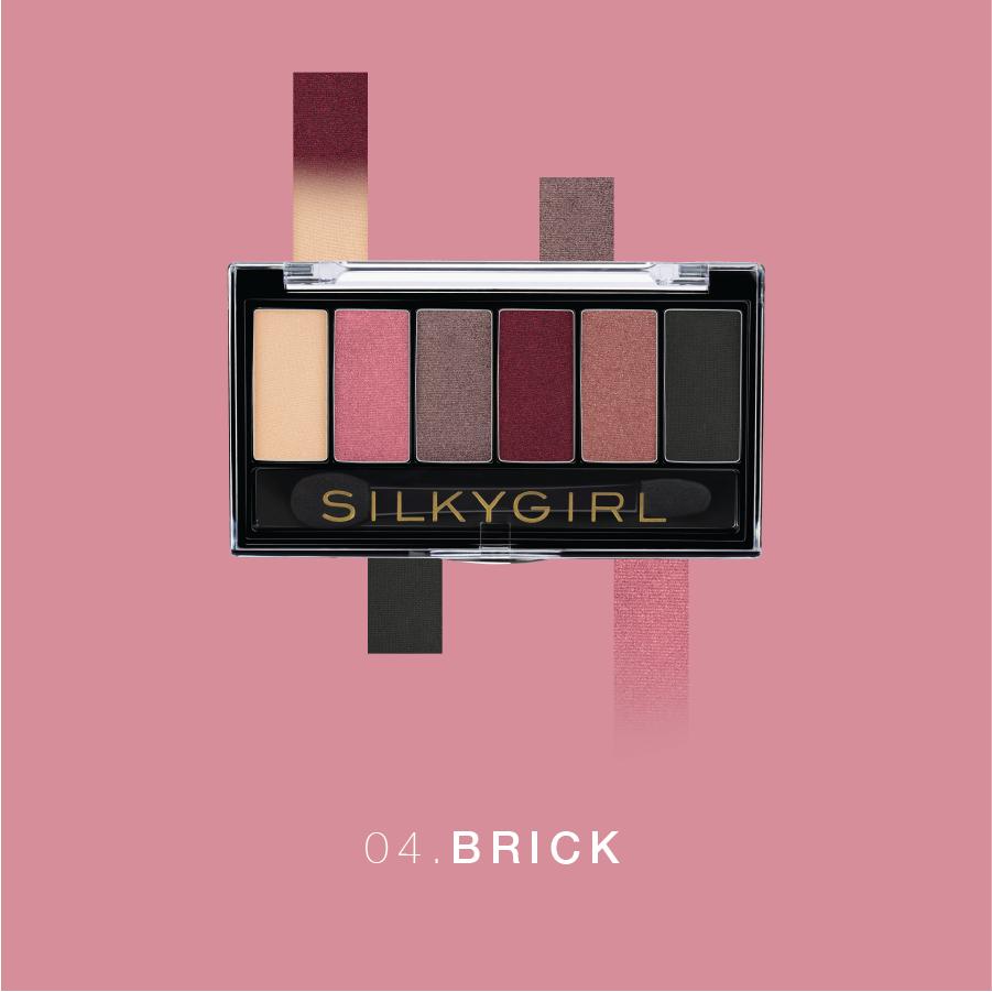 Silkygirl Phấn mắt 6 ô Truly Nude Eye Palette 04 Brick 6g – Hệ thống A-Store