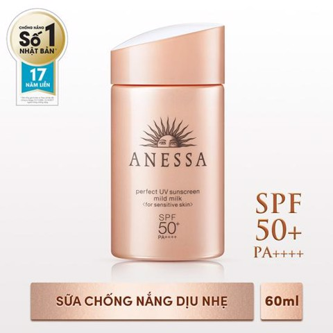 Anessa- Sữa chống nắng Perfect Mild Milk SPF 50+ PA++++ 60ml