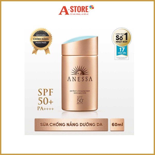 Anessa- S.chống nắng Perfect UV Milk SPF 50+ PA+ 60ml