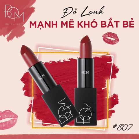 BOM Son lì My Lipstick My Deep Red số 807 3,5g