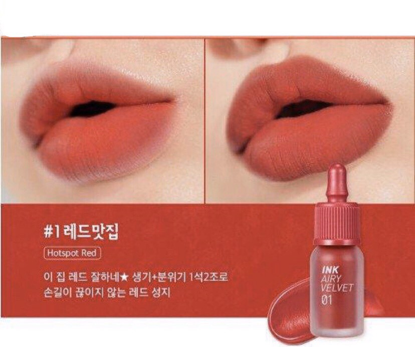 Peripera Son Tint Ink Airy Velvet 01 Hotspot Red 3,6g