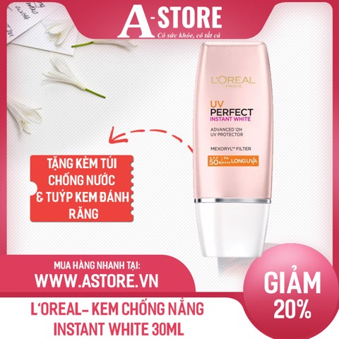 L'Oreal- Kem chống nắng Instant White 30ml