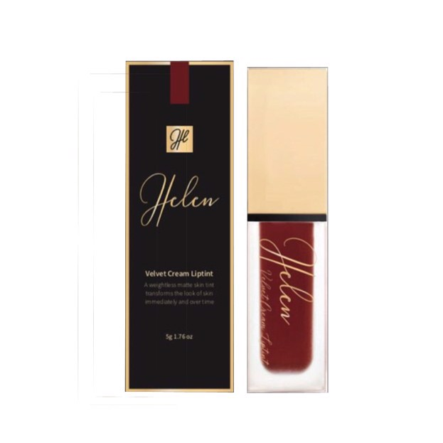 Helen Son kem lì Velvet Cream Liptint 07 Juicy Red Orange 4g