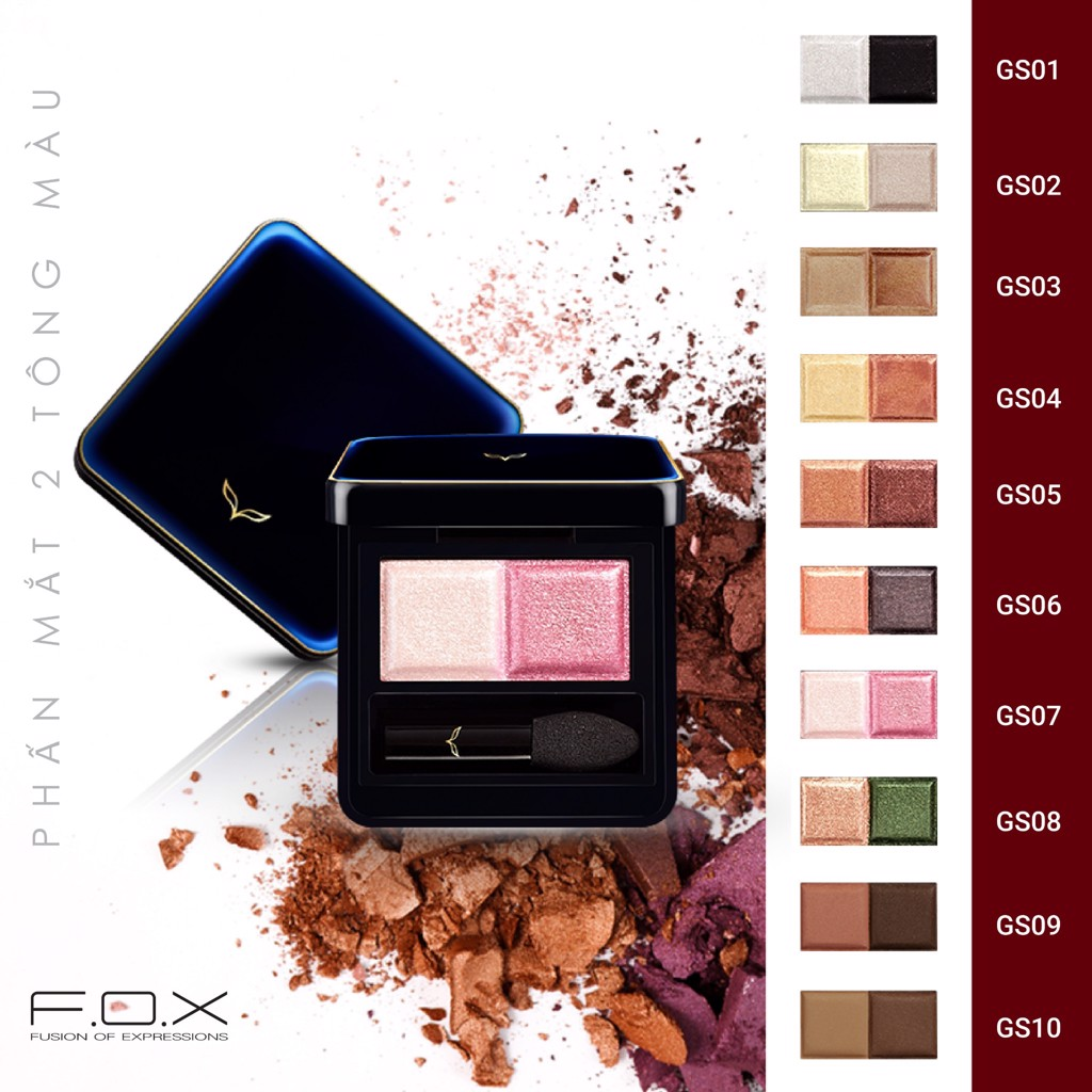 FOX Phấn mắt 2 màu Galaxy Eye Shadow GS02 3,2g