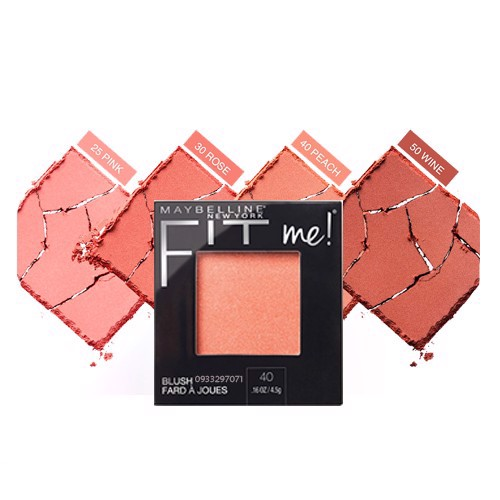 Maybelline Phấn má hồng Fit Me Blush 30 Rose 4,5g