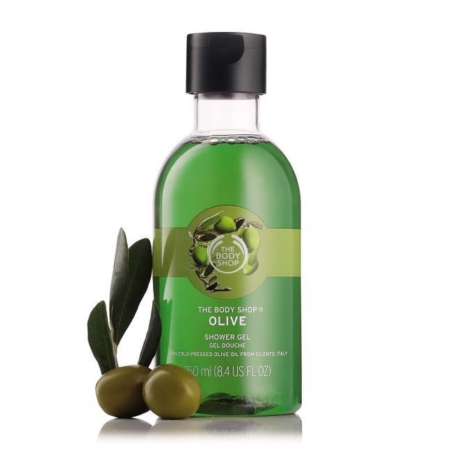The Body Shop- Combo Sữa tắm olive 250ml + bông tăm
