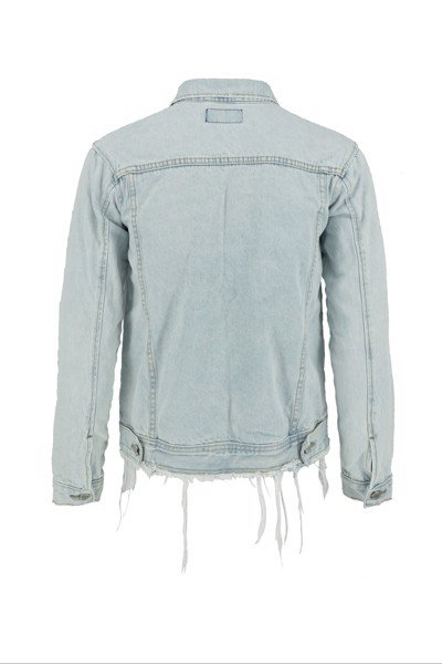 Light Blue Whiskering Denim Jacket (D07)