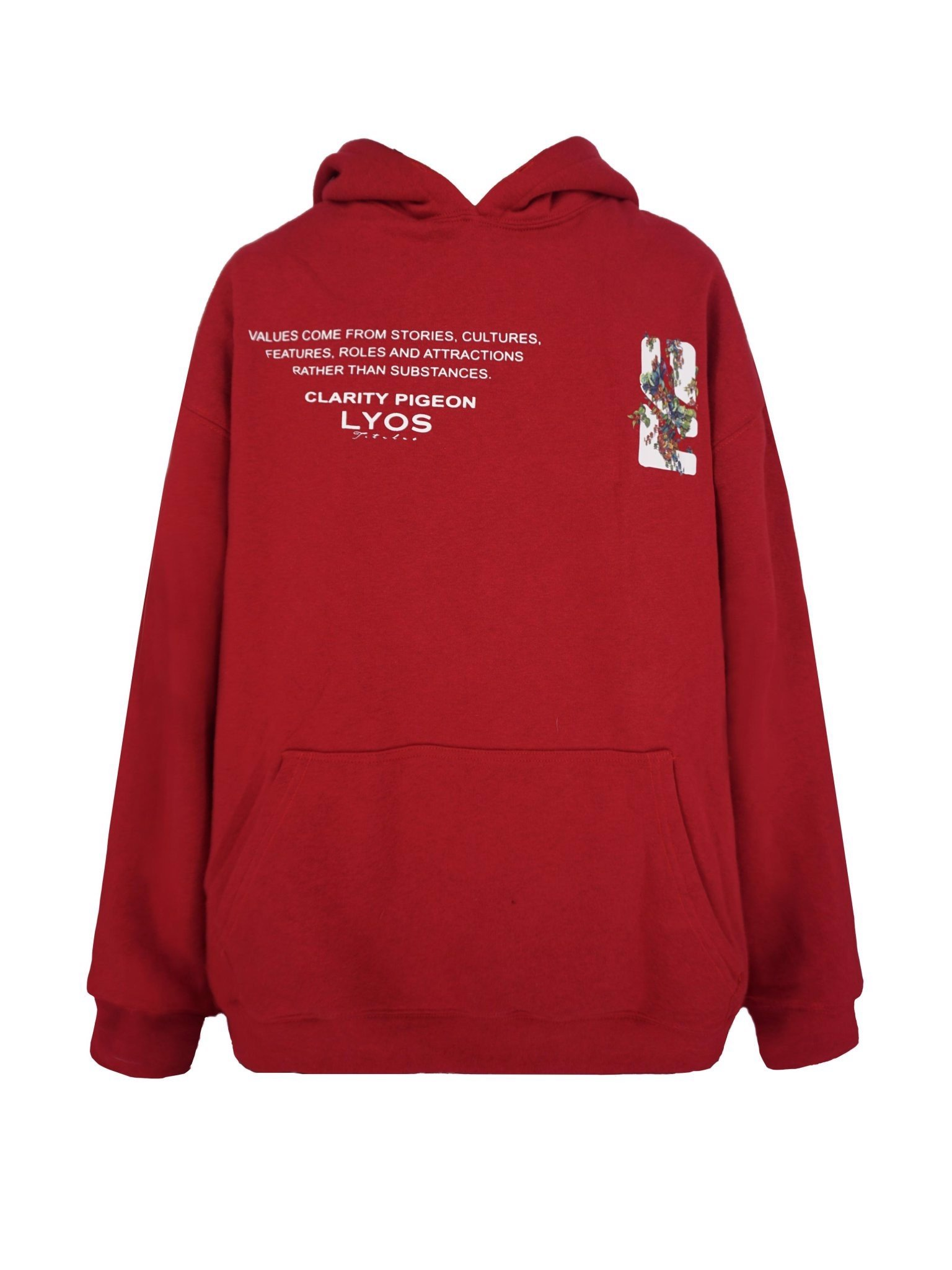 Red Clarity Pigeon Hoodie
