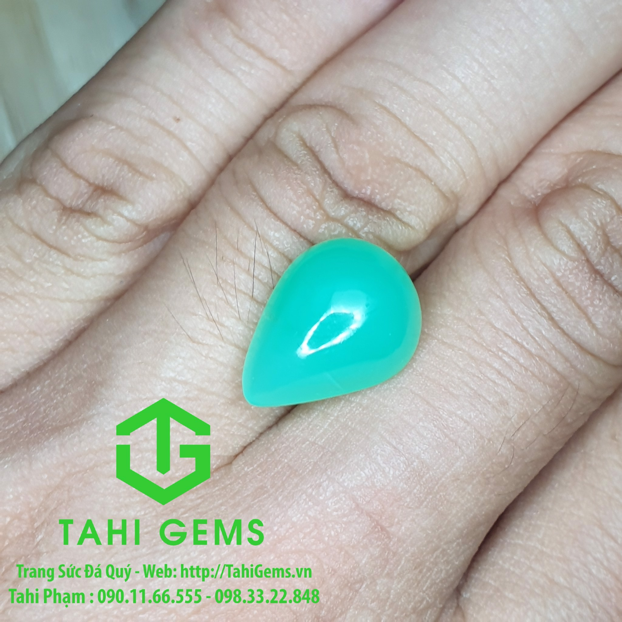 TAHI 4482 NATURAL CHRYSOPRASE H10 T2