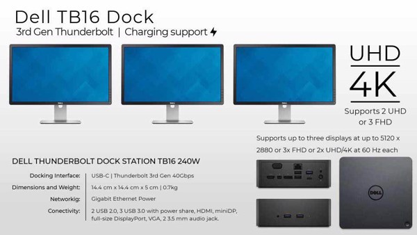 Dock TB16, Dell Business, docking dell tb16, docking dell chinh ...