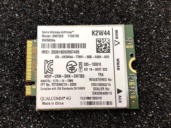 Card WWAN 4G Dell DW5809e