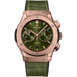 Đồng hồ Hublot Classic Fusion Chronograph Green King Gold 45mm 521.ox.8980.lr
