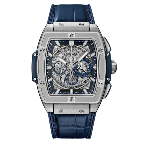 Đồng hồ Hublot Spirit Of Big Bang Titanium Blue 45 601.NX.7170.LR