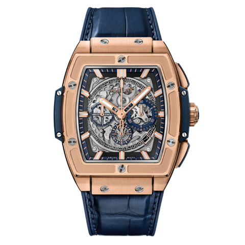 Đồng hồ Hublot Spirit Of Big Bang King Gold Blue 45 601.OX.7180.LR