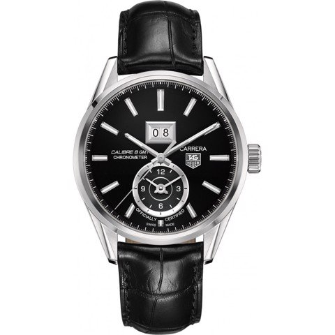 Đồng Hồ TAG Heuer Automatic Carrera Calibre 8 GMT Grande Date Chronometer WAR5010.FC6266