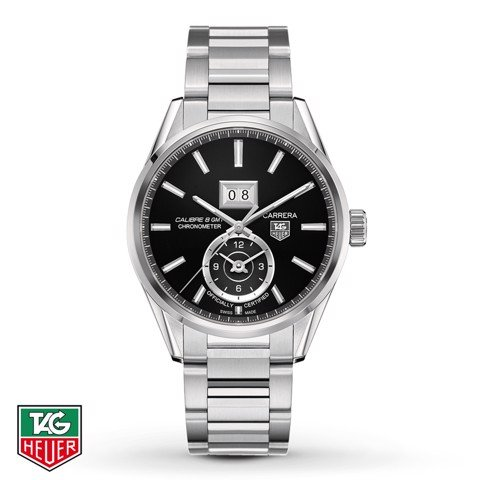 Đồng Hồ TAG Heuer Automatic Carrera Calibre 8 GMT Grande Date Chronometer WAR5010.BA0723
