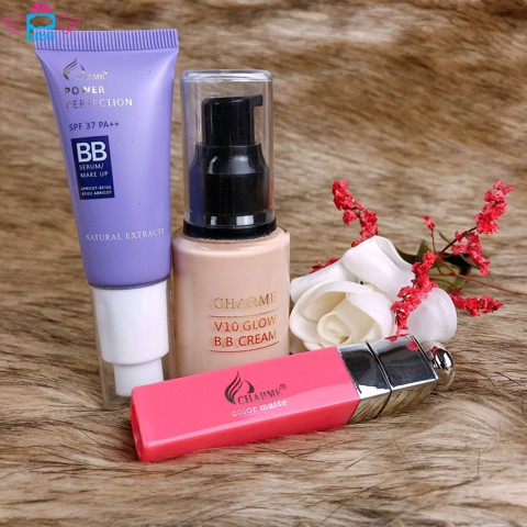 Set Charme Bb Cream Kem Nền + Son + Serum Makeup
