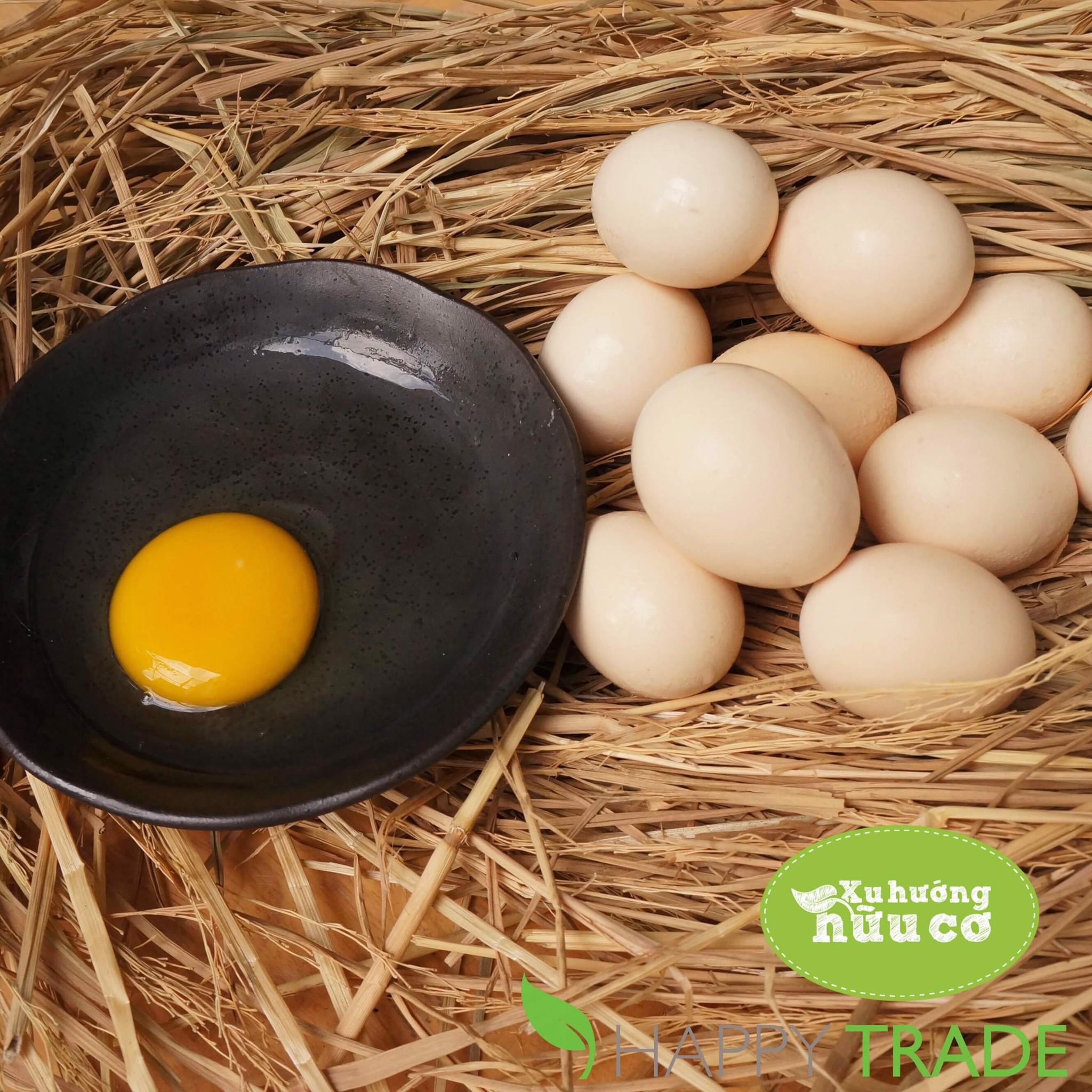 Trứng Gà ác Tươi Sạch Giỏ 10 Quả Trứng Happy Trade