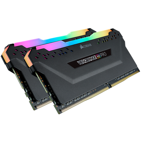 Corsair Vengeance RGB Pro 16GB (2X8GB) DDR4 3000Mhz C16 Black RGB Led