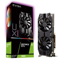 EVGA GeForce GTX 1660 XC Ultra GAMING, 06G-P4-1167-KR, 6GB GDDR5, HDB Fan