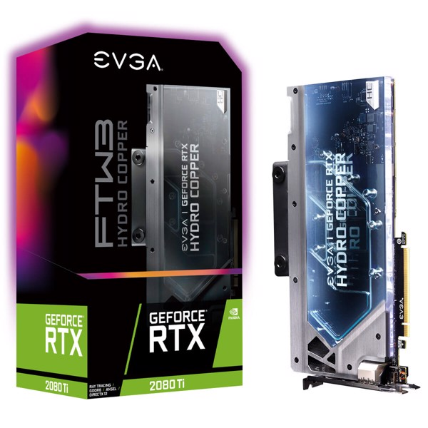 EVGA GeForce RTX 2080 Ti FTW3 ULTRA HYDRO COPPER GAMING, 11G-P4-2489-KR, 11GB GDDR6, RGB LED, iCX2 Technology, Metal Backplate