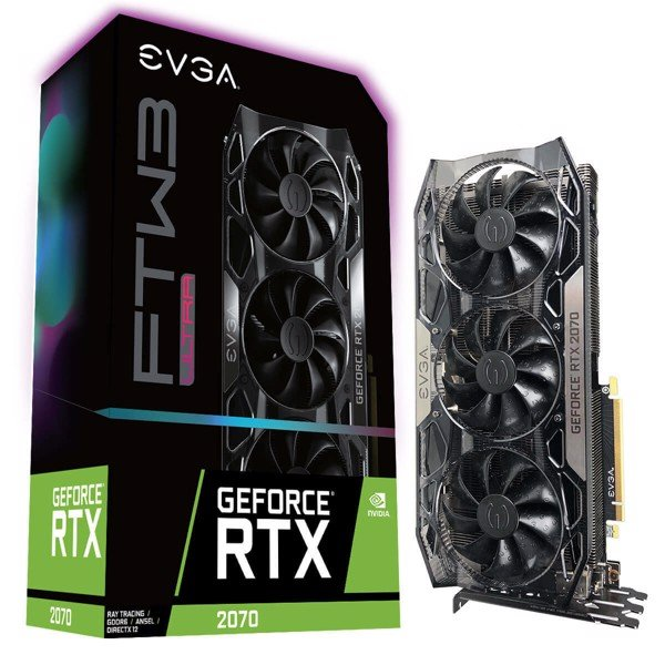 EVGA GeForce RTX 2070 FTW3 ULTRA GAMING, 08G-P4-2277-KR, 8GB GDDR6, iCX2 & RGB L