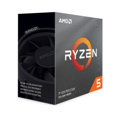 AMD Ryzen 5 3600, with Wraith Stealth cooler/ 3.6 GHz (4.2 GHz with boost) / 32MB / 6 cores 12 threads /65W / AMD4