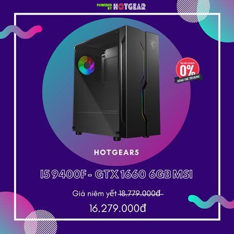Pc Hotgear5 Intel I5 9400F  / Gtx 1660 6G / Ssd 240GB ( Full Msi )
