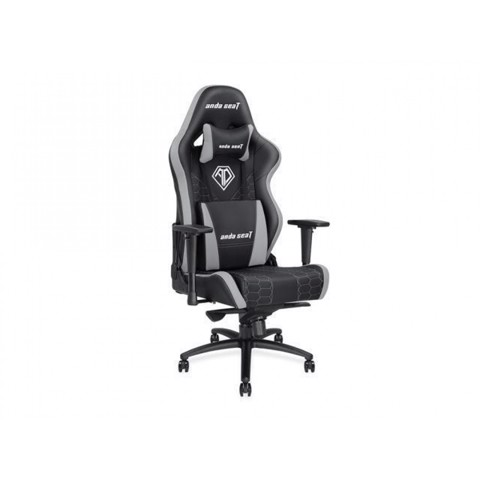 Anda Seat Spirit King Black/Grey – Full PVC Leather 4D Armrest Gaming Chair