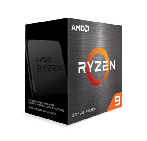CPU AMD Ryzen 9 5900X / 3.7 GHz (4.8GHz Max Boost) / 70MB Cache / 12 cores, 24 threads / 105W / Socket AM4