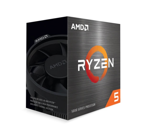 CPU AMD Ryzen 5 5600X, with Wraith Stealth cooler / 3.7 GHz (4.6GHz Max Boost) / 35MB Cache / 6 cores, 12 threads / 65W / Socket AM4