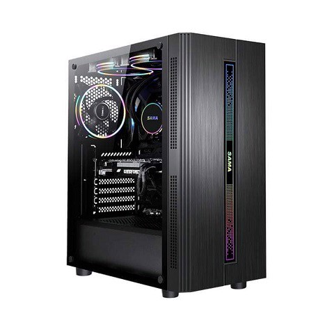 Case SAMA 3502 ATX ( Mid Tower / Màu đen/Led RGB)