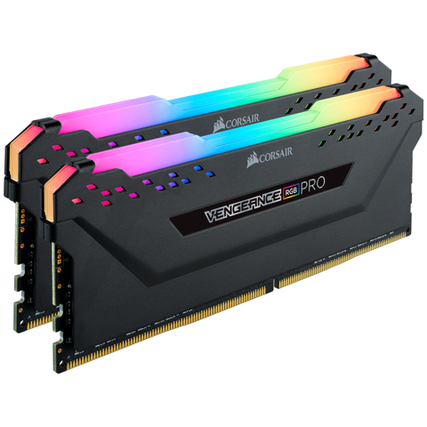 Corsair Vengeance RGB Pro 16GB (2x8GB) DDR4 C16 2666 MHz Black