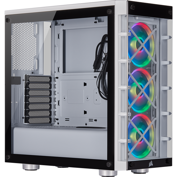 Corsair 465X RGB Tempered Glass – White – Mid Tower
