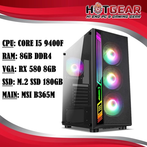 Hotgear Pc Core I5 9400F / DDR4 8G / Rx 580 8GB / M.2 Ssd 180GB