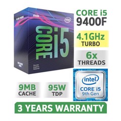 Intel Core i5 9400F 2.90Ghz Turbo up to 4.10GHz / 9MB / 6 Cores, 6 Threads / Socket 1151 / Coffee Lake