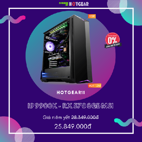 PC HOTGEAR11 INTEL I9 9900K / 16G / RX 570 8GB / SSD 256 NVME