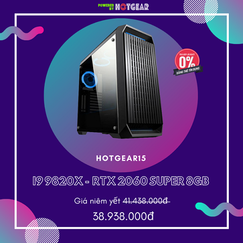 Pc Hotgear15 Intel I9 9820X / 32G / RTX 2060 Super 8GB / Ssd 256GB Nvme