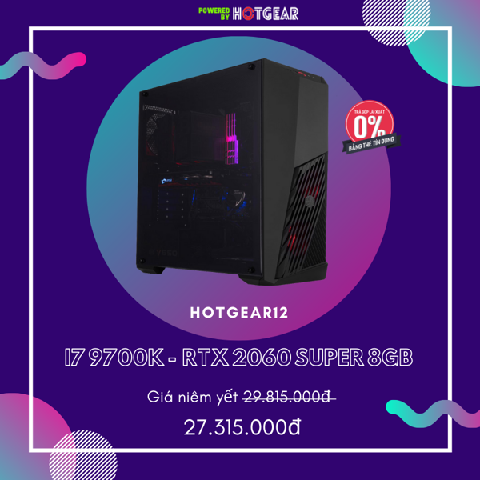 Pc Hotgear12 Intel I7 9700K / 16G / RTX 2060 Super 8GB / Ssd 256GB Nvme