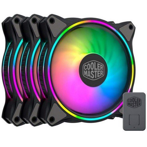 Bộ 3 Quạt Cooler Master MasterFan MF120 Halo Duo-Ring aRGB 3in1