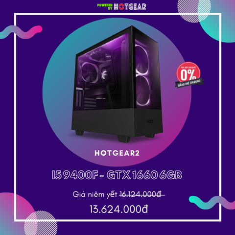 Pc Hotgear2 Intel I5 9400F  / Gtx 1660 6GB / Ssd 240GB
