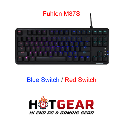 Bàn phím cơ Fuhlen M87s RGB Mechanical Blue/Red Switch