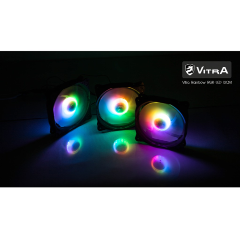 Bộ Fan Vitra Rainbow RGB Led 12Cm