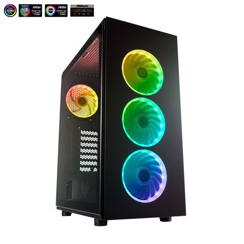 Fsp Cmt340 Atx Case ( Tặng 4 Fan Led RGB)